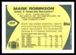 1989 Topps Traded #122 T Mark Robinson  Back Thumbnail
