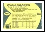 1989 Topps Traded #129 T Evan Cooper  Back Thumbnail
