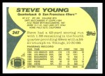 1989 Topps Traded #24 T Steve Young  Back Thumbnail