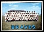1967 Topps #477   Braves Team Front Thumbnail