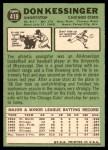 1967 Topps #419  Don Kessinger  Back Thumbnail