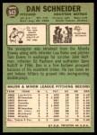 1967 Topps #543  Dan Schneider  Back Thumbnail