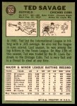 1967 Topps #552  Ted Savage  Back Thumbnail