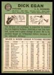 1967 Topps #539  Dick Egan  Back Thumbnail