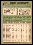 1967 Topps #326  Bob Uecker  Back Thumbnail