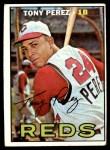 1967 Topps #476  Tony Perez  Front Thumbnail
