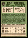 1967 Topps #464  Don Coombs  Back Thumbnail