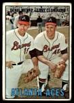 1967 Topps #396   -  Denis Menke / Tony Cloninger Atlanta Aces Front Thumbnail