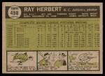 1961 Topps #498  Ray Herbert  Back Thumbnail
