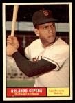 1961 Topps #435  Orlando Cepeda  Front Thumbnail