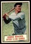 1961 Topps #405   -  Lou Gehrig Baseball Thrills Front Thumbnail