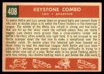 1959 Topps #408   -  Luis Aparicio / Nellie Fox Keystone Combo Back Thumbnail
