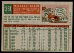 1959 Topps #361  Willard Nixon  Back Thumbnail