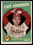 1959 Topps #382  Curt Simmons  Front Thumbnail
