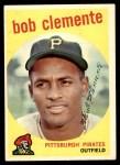 1959 Topps #478  Roberto Clemente  Front Thumbnail