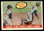 1959 Topps #467   -  Hank Aaron Clubs World Series Homer Front Thumbnail