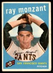 1959 Topps #332  Ray Monzant  Front Thumbnail