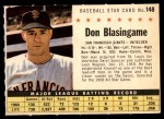 1961 Post #148 COM Don Blasingame   Front Thumbnail