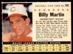 1961 Post #190 COM Billy Martin   Front Thumbnail