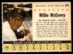 1961 Post #147 COM Willie McCovey   Front Thumbnail