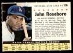 1961 Post #166 COM John Roseboro   Front Thumbnail