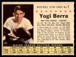 1961 Post #1 COM Yogi Berra   Front Thumbnail