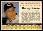 1961 Post #57 COM Harvey Kuenn   Front Thumbnail