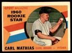 1960 Topps #139   -  Carl Mathias Rookie Star Front Thumbnail