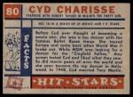 1957 Topps Hit Stars #80  Cyd Charisse   Back Thumbnail