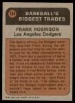 1972 Topps #754   -  Frank Robinson Traded Back Thumbnail