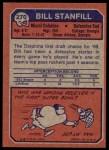 1973 Topps #270  Bill Stanfill  Back Thumbnail