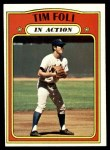 1972 Topps #708   -  Tim Foli In Action Front Thumbnail