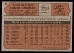 1972 Topps #691  Curt Blefary  Back Thumbnail