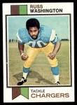 1973 Topps #199  Russ Washington  Front Thumbnail
