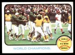 1973 Topps #210   1972 World Series - Summary - A's Win - World Champions Front Thumbnail