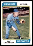 1974 Topps #391  Billy Champion  Front Thumbnail