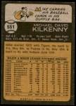 1973 Topps #551  Mike Kilkenny  Back Thumbnail