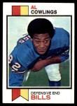1973 Topps #16  Al Cowlings  Front Thumbnail