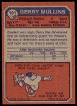 1973 Topps #191  Gerry Mullins  Back Thumbnail