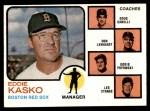 1973 Topps #131 ORG  -  Eddie Kasko / Doug Camilli /  Don Lenhardt / Eddie Popowski / Lee Stange Red Sox Leaders   Front Thumbnail