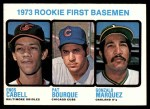 1973 Topps #605   -  Pat Bourque / Enos Cabell / Gonzalo Marquez Rookie First Baseman Front Thumbnail