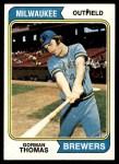1974 Topps #288  Gorman Thomas  Front Thumbnail