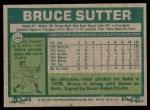 1977 Topps #144  Bruce Sutter  Back Thumbnail