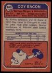 1973 Topps #149  Coy Bacon  Back Thumbnail