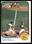 1973 Topps #204  Johnny Bench / Tony Perez / Mike Hegan / Dick Green 1972 World Series - Game #2 - A's Make it Two Straight Front Thumbnail