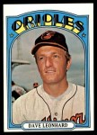1972 Topps #527  Dave Leonhard  Front Thumbnail