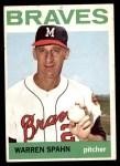 1964 Topps #400  Warren Spahn  Front Thumbnail