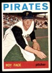 1964 Topps #539  Roy Face  Front Thumbnail