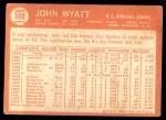 1964 Topps #108  John Wyatt  Back Thumbnail