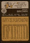 1973 Topps #633  Ike Brown  Back Thumbnail